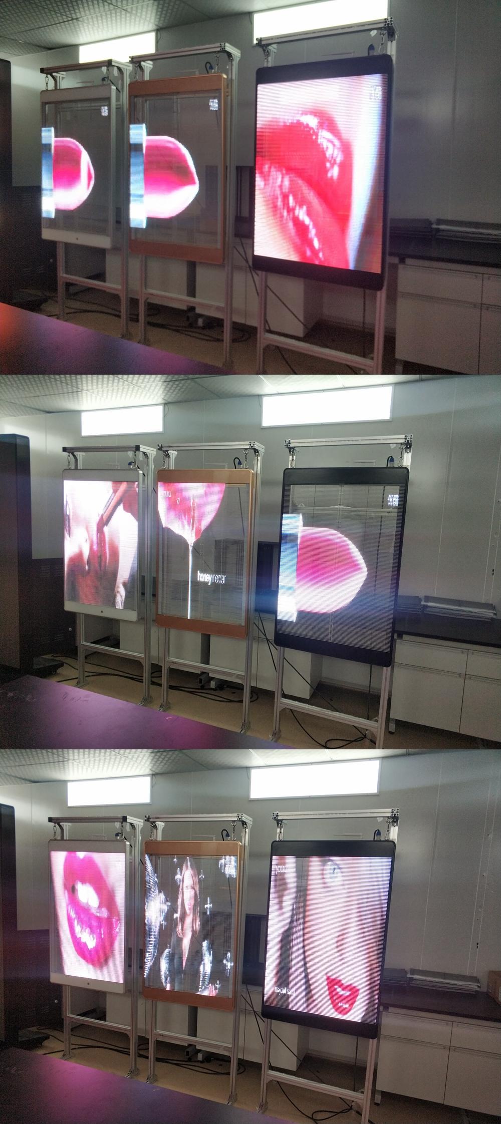 Tranparent LED poster